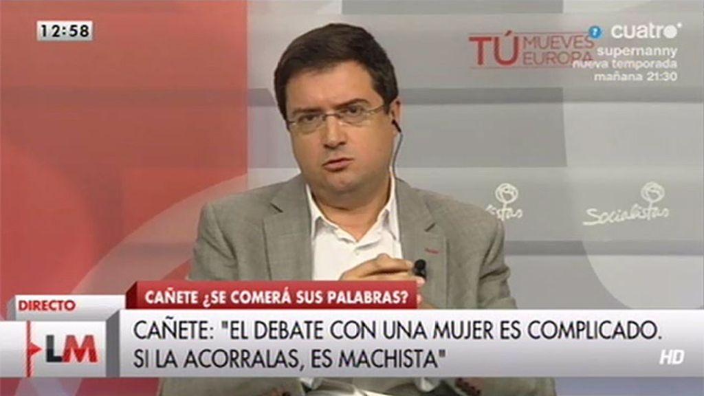 """Óscar López, sobre las palabras de Cañete: """"Es soberbia, es machismo en estado puro"""""""