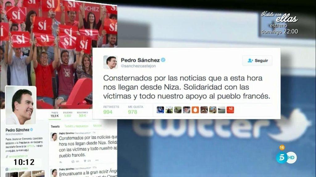 Ciudadanos y líderes políticos españoles muestran su apoyo a las víctimas