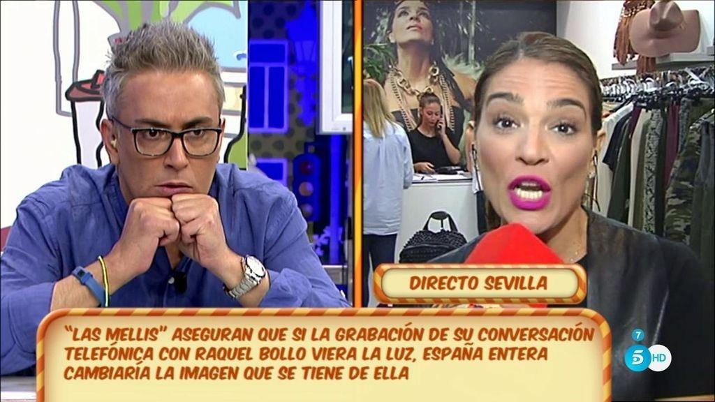 Raquel Bollo entra en directo para contestar a 'Las Mellis' sobre su grabación
