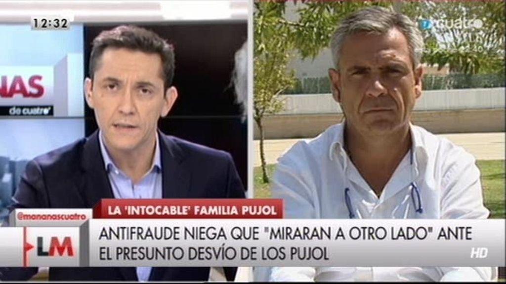"""Daniel de Alonso, director Antifraude: """"No hemos ocultado el fraude de los Pujol"""""""