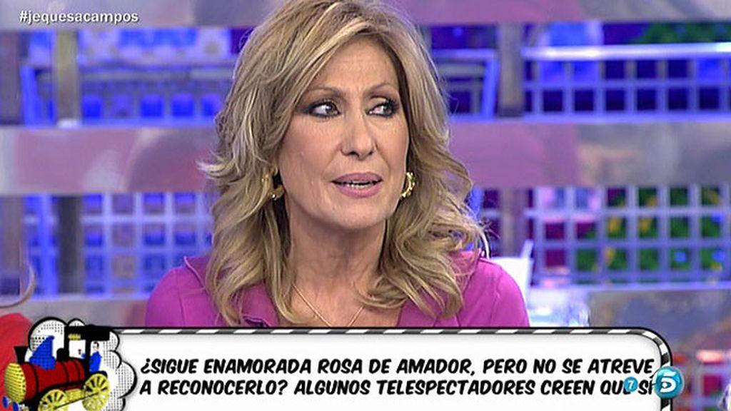 "Rosa Benito, irónica: ""Me habéis pillado, sigo enamorada de Amador Mohedano"""