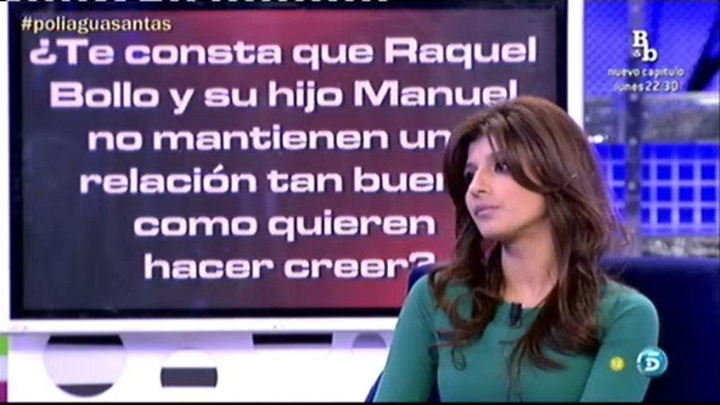 Según Aguasantas, Raquel Bollo y su hijo Manuel no se llevan tan bien como hacen ver