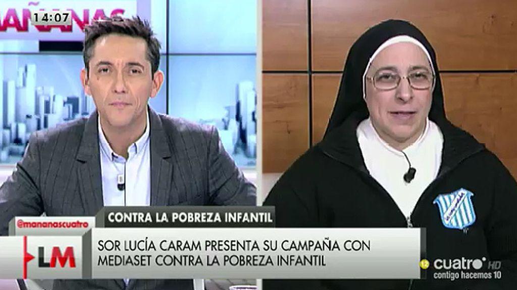 """Sor Lucía Caram: """"La pobreza infantil no puede ganarnos el partido"""""""