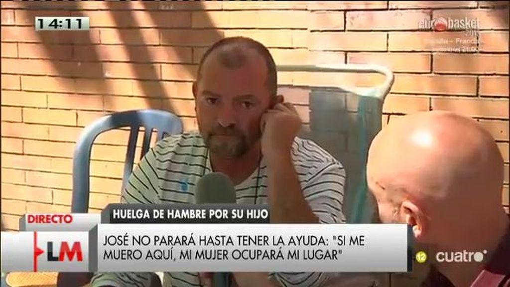 Un padre lleva una semana en huelga de hambre para lograr un monitor para su hijo