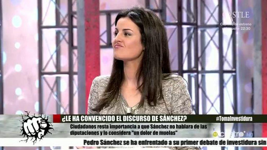 """Ketty Garat: """"Pedro Sánchez no ha sacado pecho de su pacto con Ciudadanos"""""""