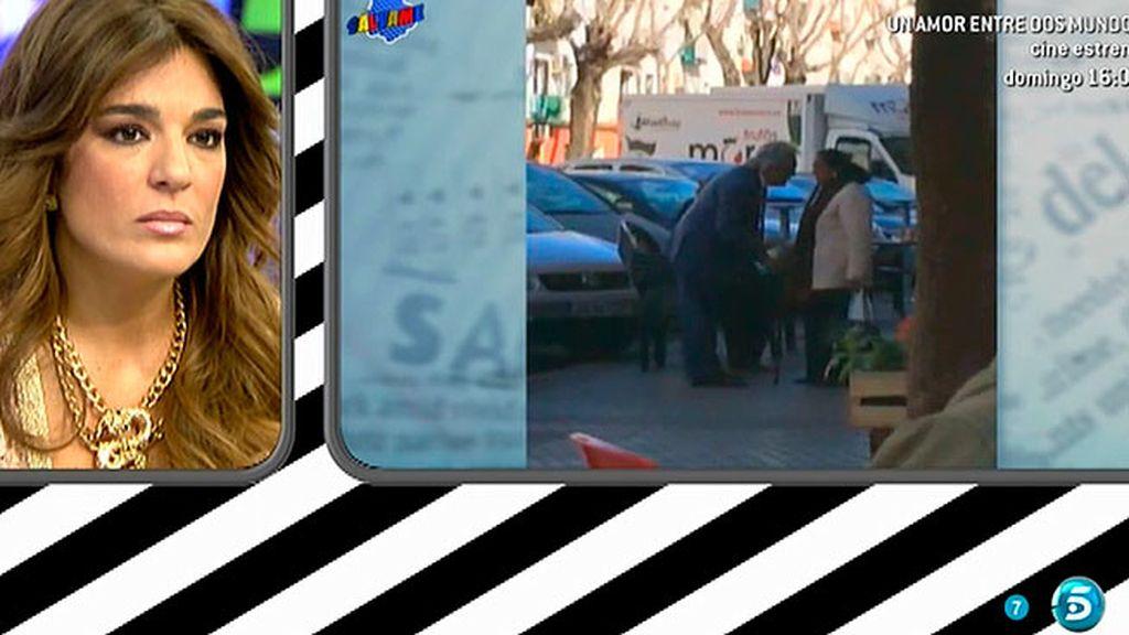 Raquel Bollo ve las imágenes de Chiquetete discutiendo en plena calle con su madre