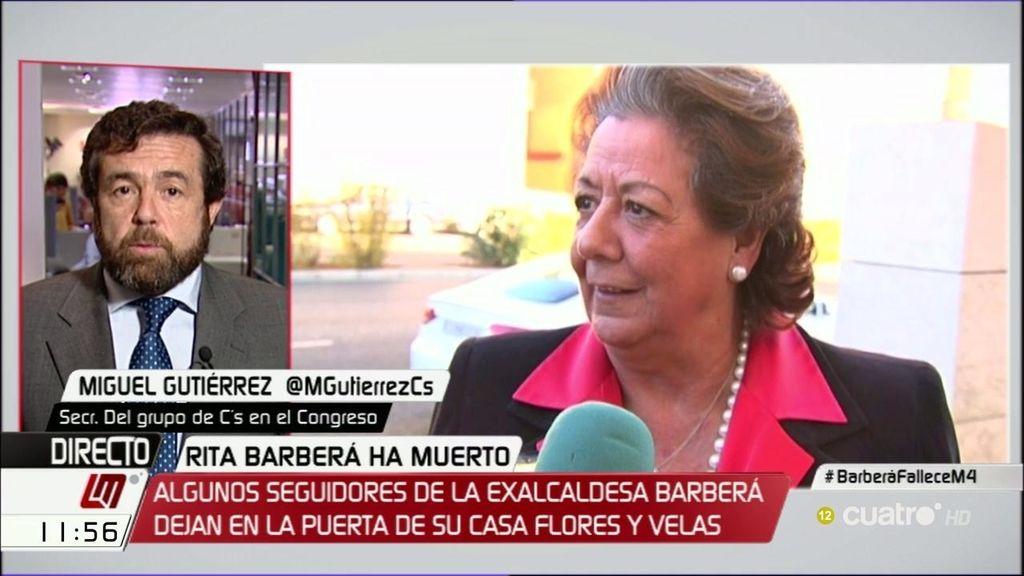 """Miguel Gutiérrez (C's): """"No era el día de intentar utilizar el dolor de una familia para reivindicar nada en el Congreso"""""""