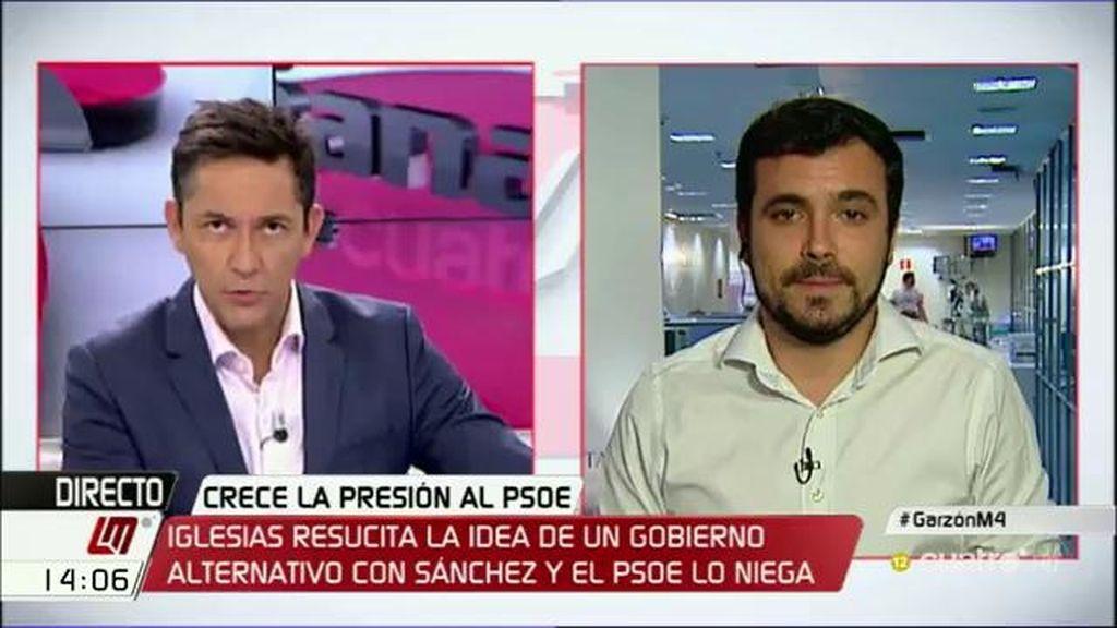 """Alberto Garzón: """"Si el PP y C´s se ponen de acuerdo se consolidará la política de Rajoy"""""""