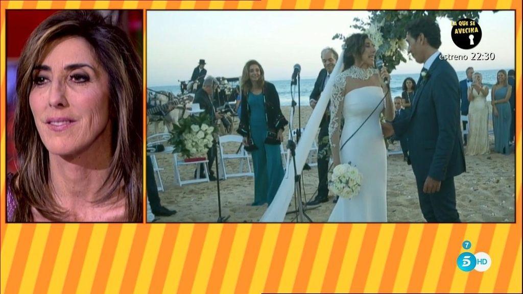 Paz Padilla le canta a su marido Antonio el tango 'Volver' durante el enlace