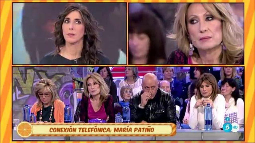 """María Patiño: """"Amador no tiene narices de decirle a Rosa lo que piensa de ella"""""""