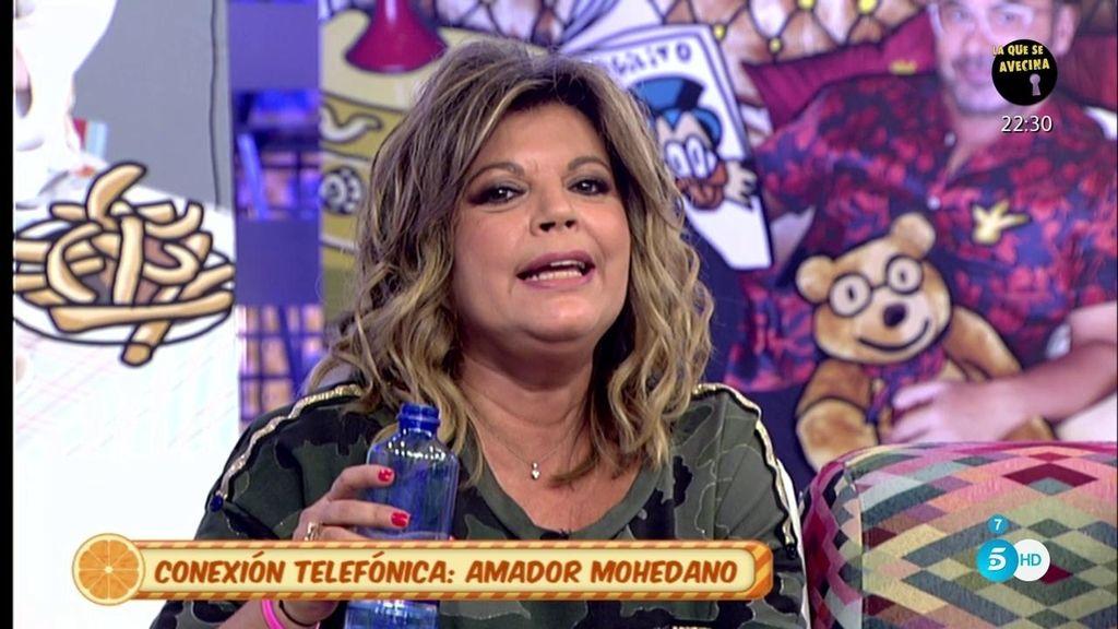 Amador, ofendido por un comentario que dijo en el pasado María Teresa Campos