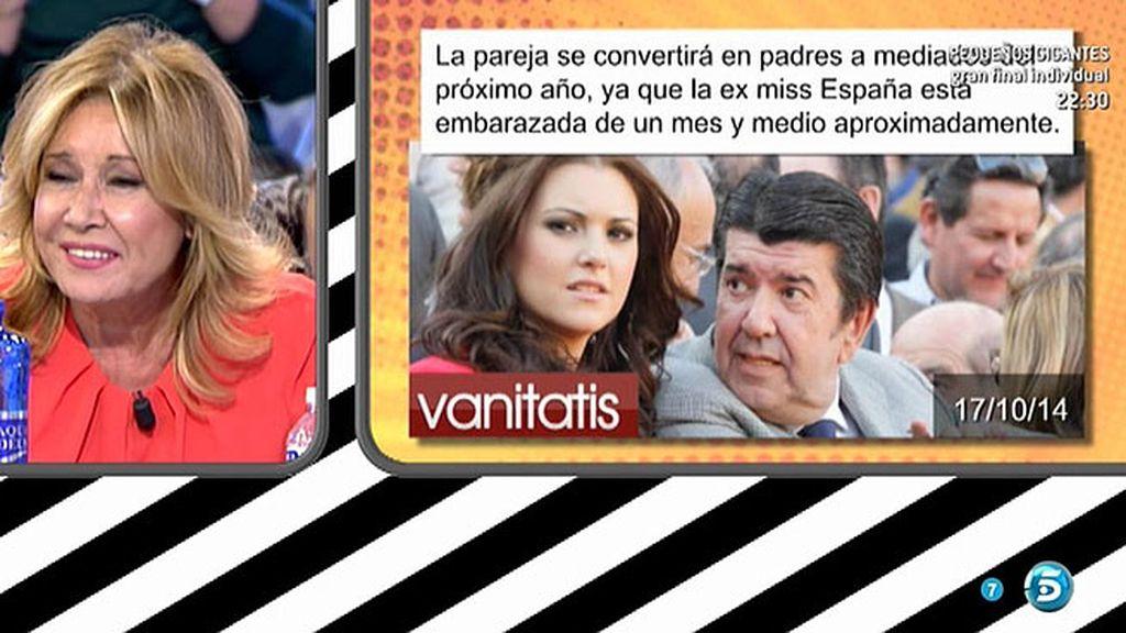 María Jesús Ruiz podría estar embarazada de un mes y medio, según 'Vanitatis'