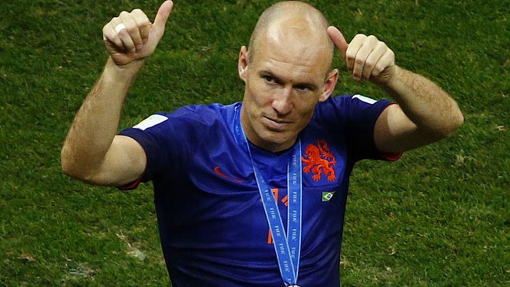 Robben dio la cara con Holanda hasta el último momento del Mundial