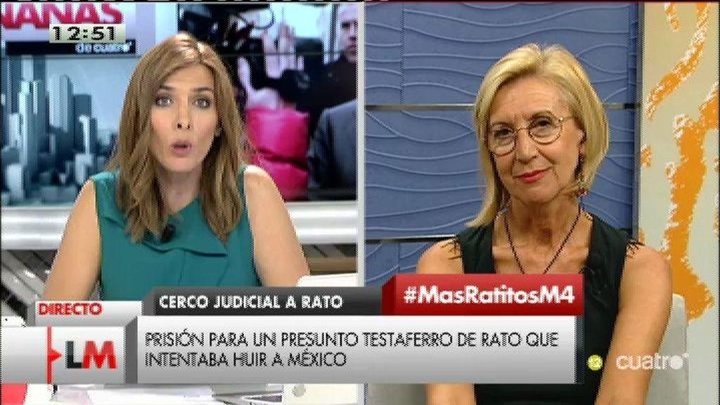 """Rosa Díez: """"El error del testaferro de Rato ha sido viajar a México en lugar de a Suiza"""""""