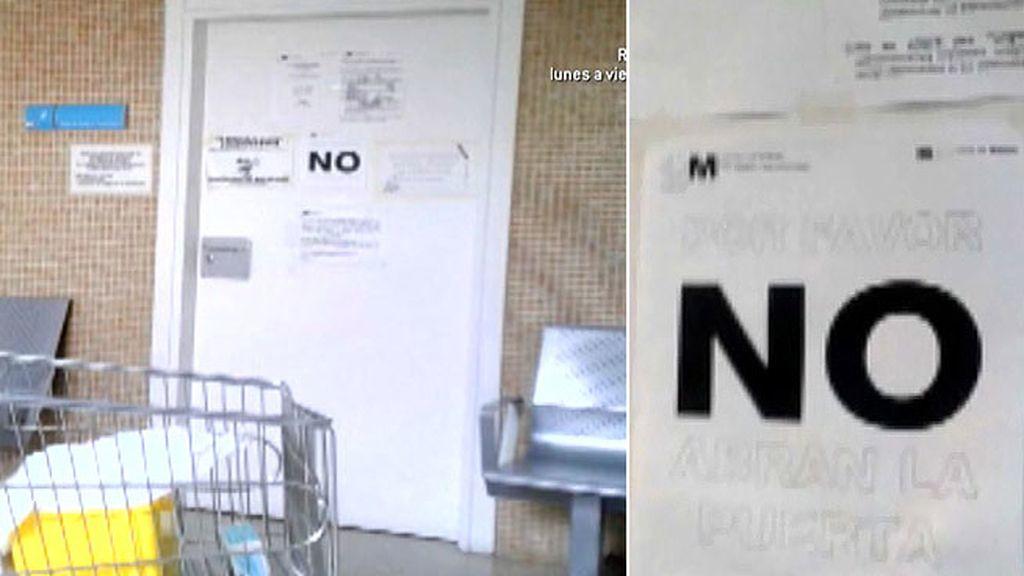 Así sellaron la sala del centro médico donde atendieron a Teresa el 30 de septiembre
