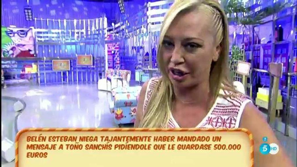 Belén Esteban insinúa que Toño filtró la traición de Miguel para hacer negocio