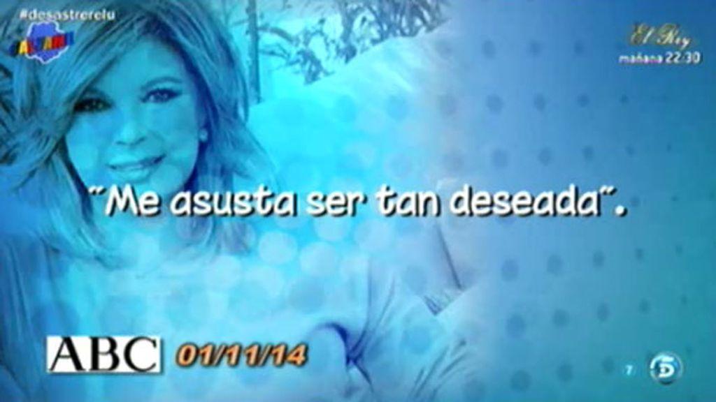 """Terelu Campos, en 'ABC': """"Nunca he ido de cuerpo danone, ni de tipa musculada"""""""