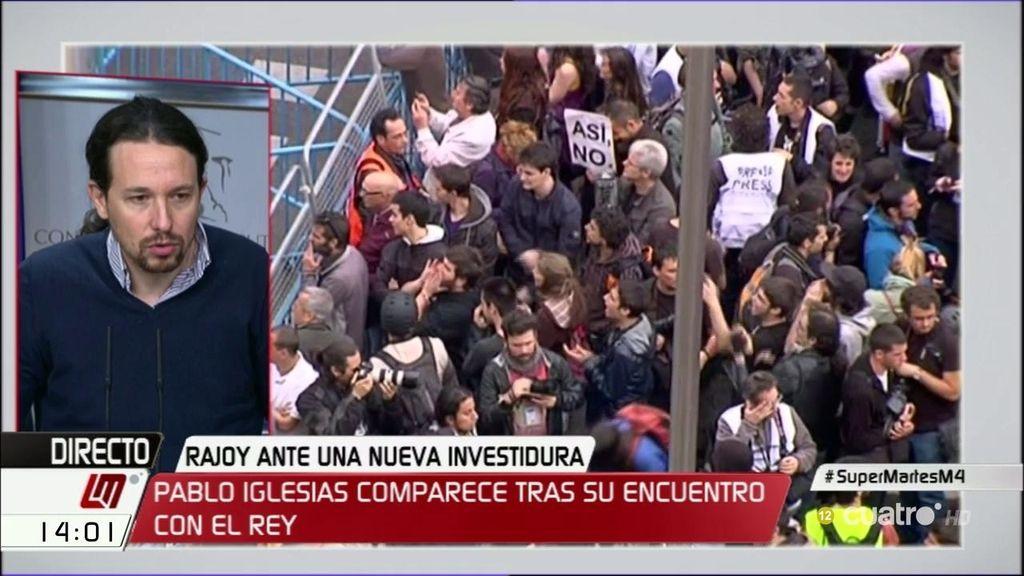 """Pablo Iglesias, sobre 'rodea el Congreso': """"Si tengo ocasión, pasaré a saludar"""""""
