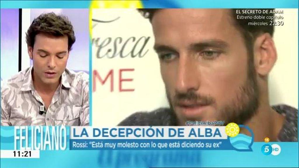 """Feliciano, sobre Alba: """"Va contando historias según le parece"""""""
