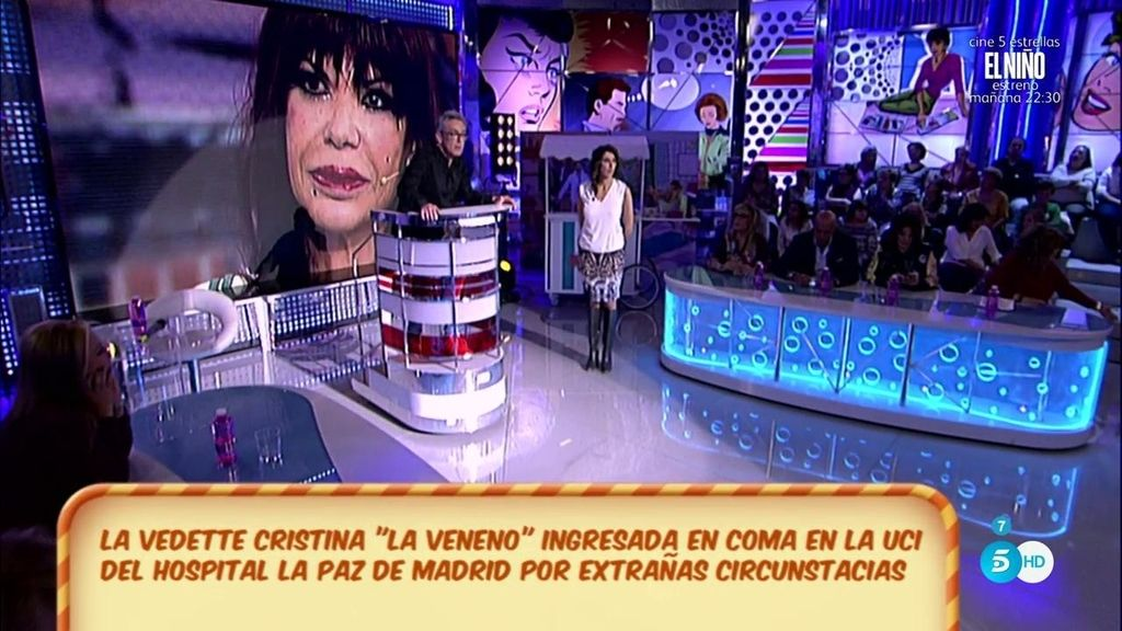 Cristina 'La Veneno', en coma tras encontrarla con un fuerte golpe en la cabeza