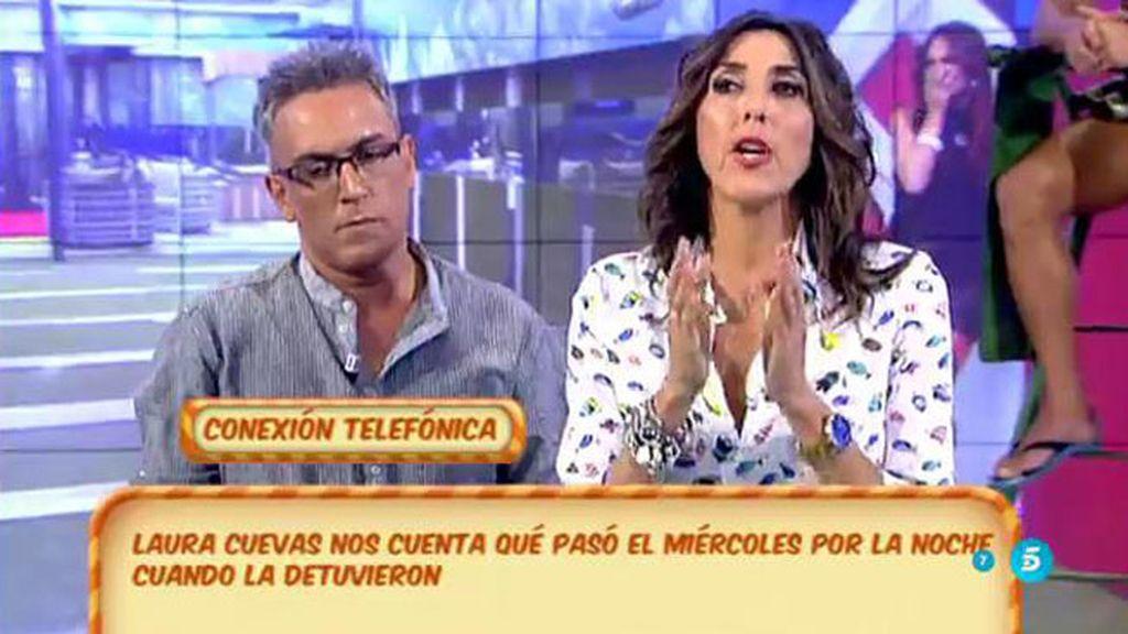Laura Cuevas cuenta en 'Sálvame' su versión de lo que ocurrió cuando la detuvieron