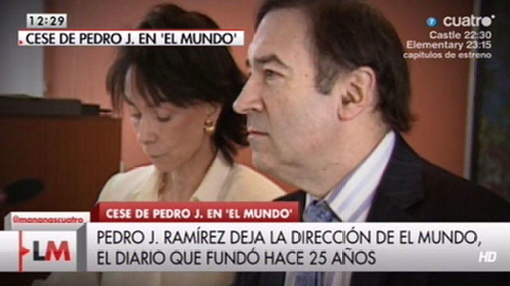 Pedro J. deja la dirección de 'El Mundo'