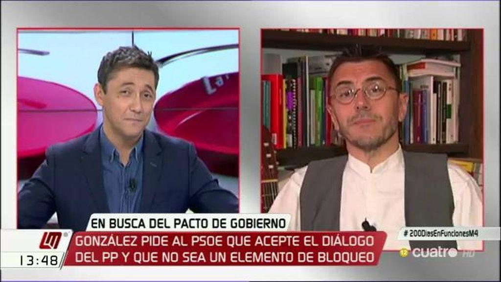 """Juan Carlos Monedero: """"Creo que vamos a un gran bochorno generalizado"""""""