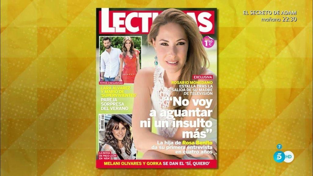"""Chayo Mohedano, en la revista 'Lecturas': """"No voy a aguantar ni un insulto más"""""""