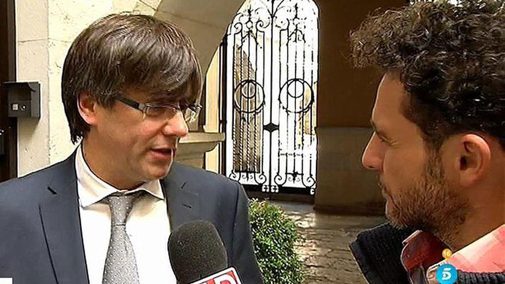 """Puigdemont: """"Mas debe seguir jugando un papel de liderazgo. Aquí no sobra nadie"""""""
