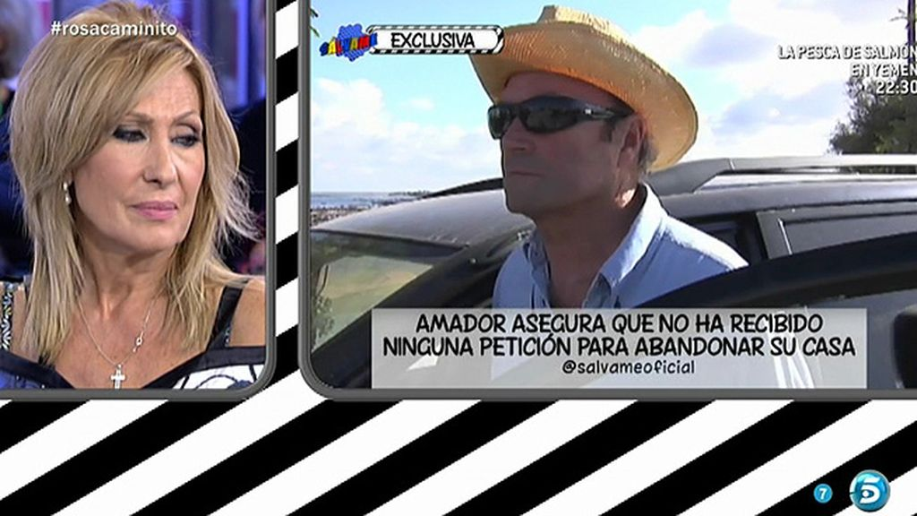 Amador Mohedano elude decir si tiene que abandonar su casa de Chipiona