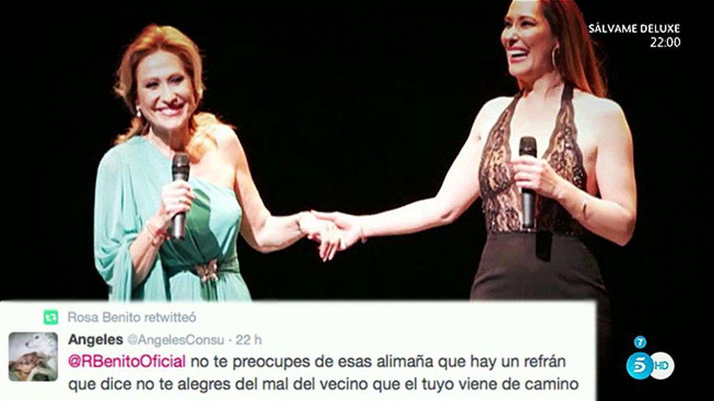 Los retuits de Rosa Benito contra los colaboradores de 'Sálvame'
