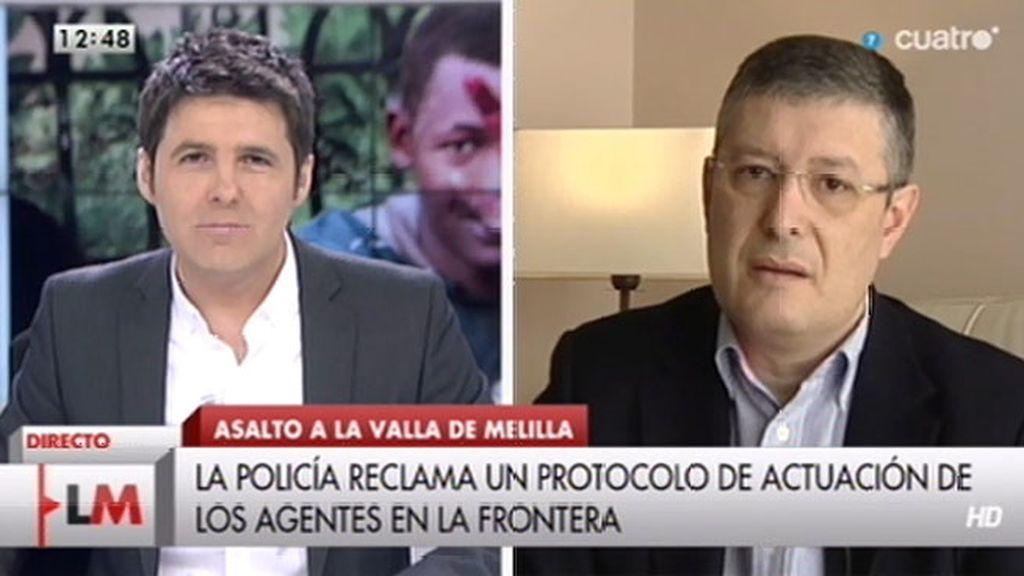 """J.M. Benito, sobre Melilla: """"El 'efecto llamada' se está produciendo de manera considerable"""""""