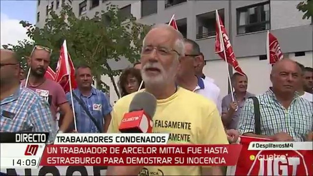Jerónimo Blanco, sindicalista, fue hasta Estrasburgo para demostrar su inocencia