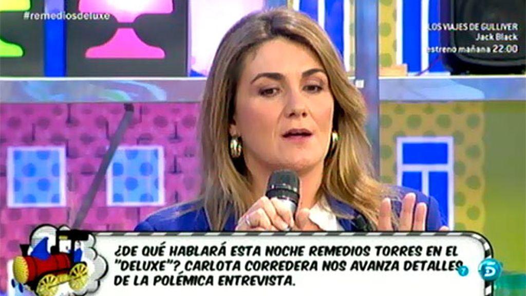 Las consignas de Mª José Campanario a su madre para su entrevista en el 'Deluxe'
