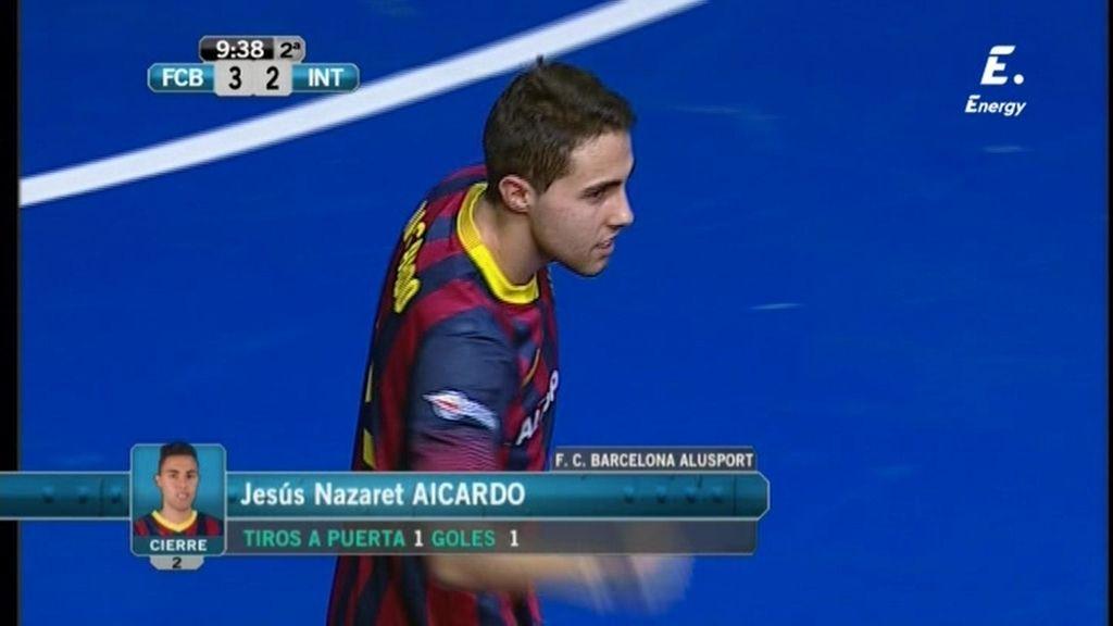 Gol de Aicardo (Barça 3-2 Inter Movistar)