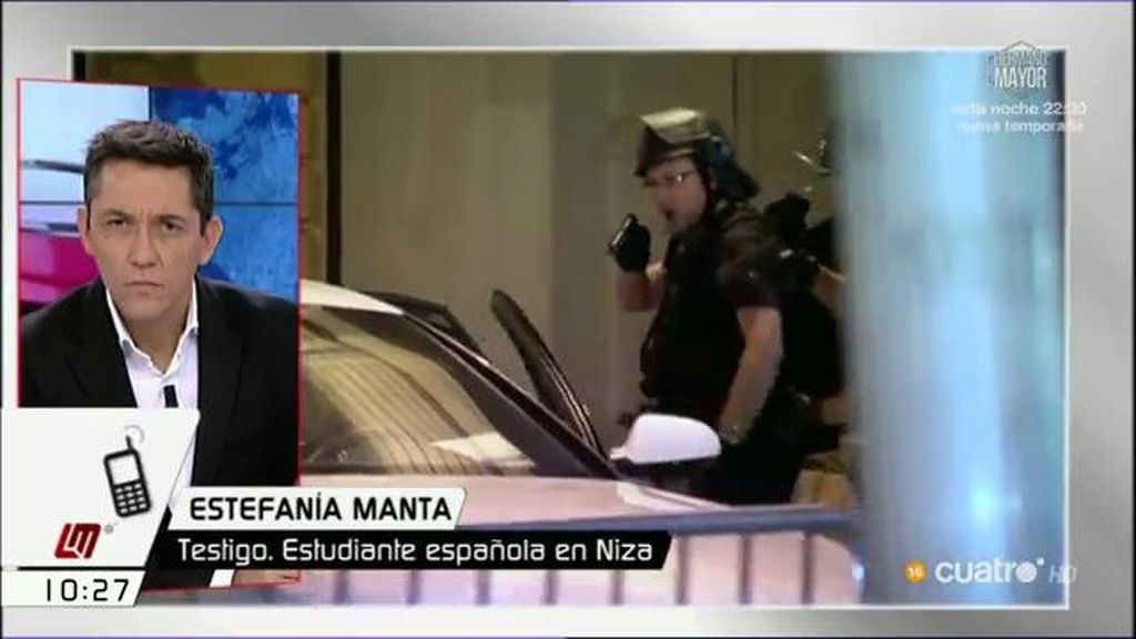 """Estefanía presenció la masacre: """"Vi mucha gente corriendo y les seguí sin mirar atrás"""""""