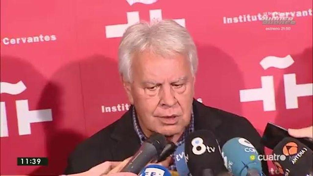 "Felipe González, de Iglesias: ""Que lo perdone Dios o Anguita, yo no"""