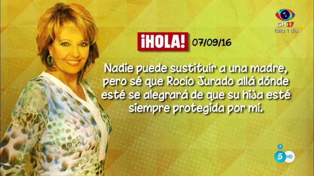 """Mª Teresa, en '¡Hola!': """"Rocío es como una niña pero con la fuerza de una gran mujer"""""""