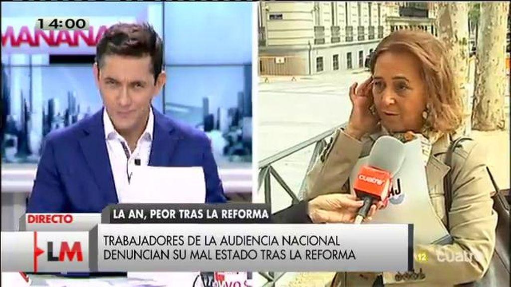 """Funcionarios de la Audiencia Nacional, tras la reforma: """"Es un caos"""""""