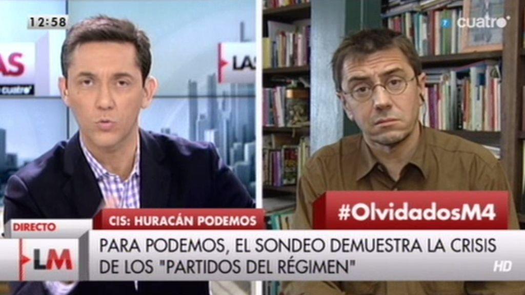 Juan Carlos Monedero: 'La voluntad central de 'Podemos' es cambiar nuestro país'