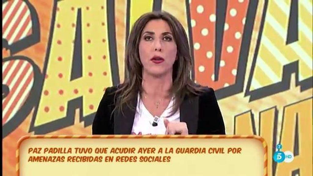 Paz Padilla acudió a la comisaría por amenazas en las redes sociales