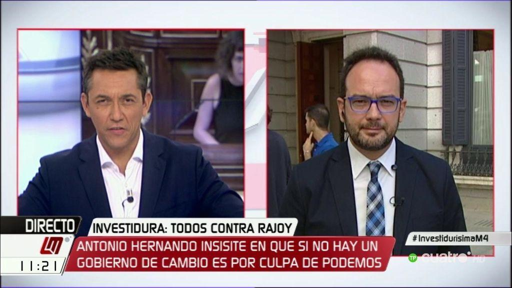 """Antonio Hernando: """"Rajoy es el único español que quiere terceras elecciones"""""""