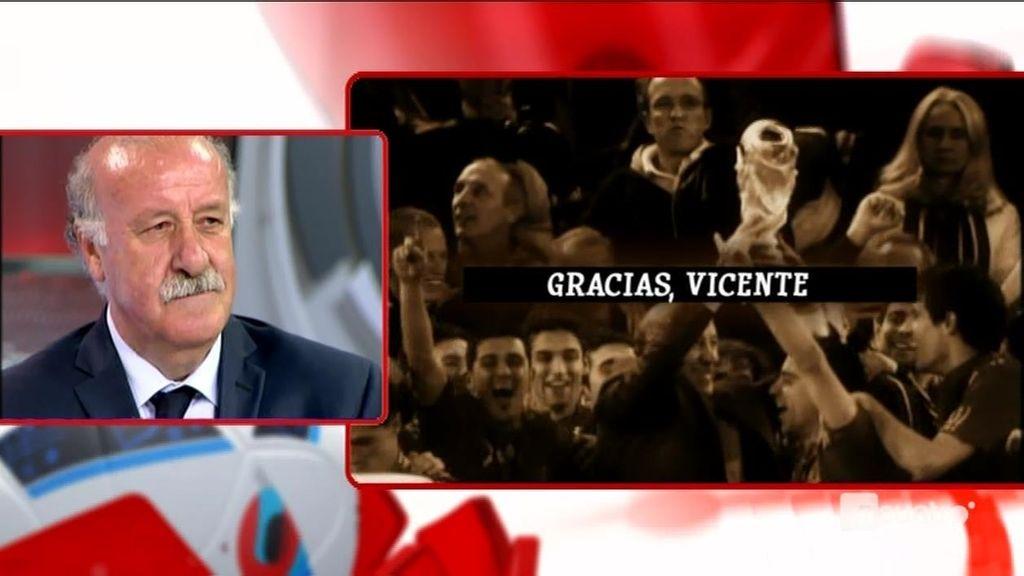 Las 'Gracias' de 'Los Manolos' a Del Bosque por ocho años de éxitos con La Roja