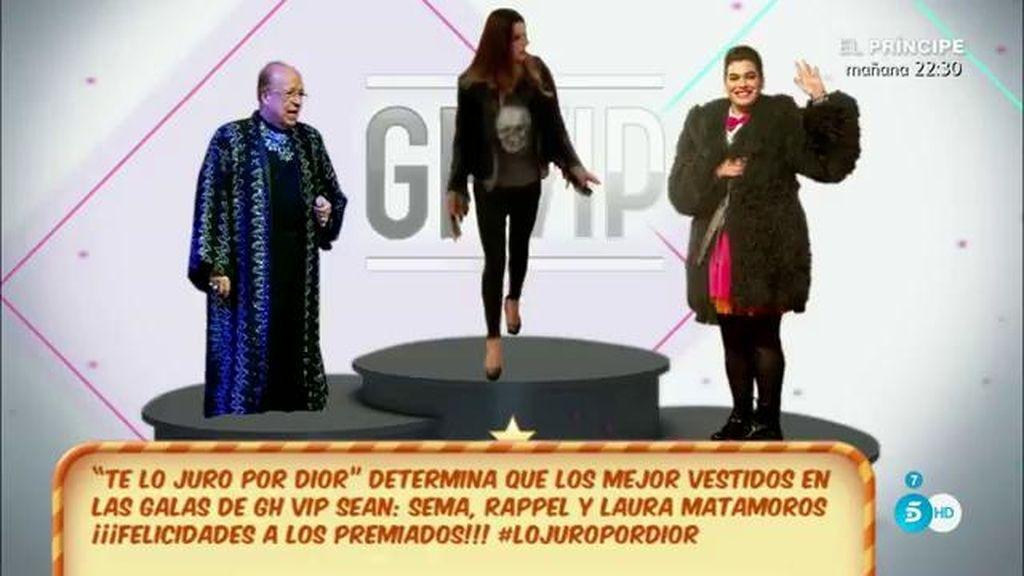 La mejor vestida de la casa es Laura Matamoros y el peor Fran Nicolás