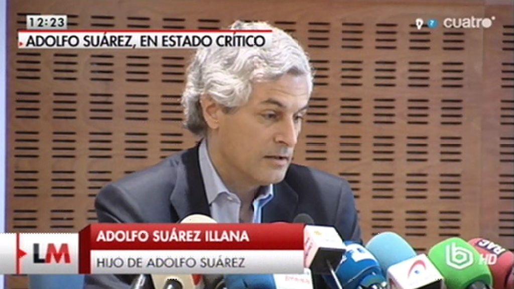 """Adolfo Suárez Illana: """"Todo nos hace indicar que el desenlace es inminente"""""""