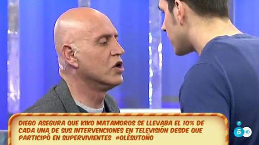 "Diego Matamoros, a Kiko: ""Te has llevado de mí miles de euros de comisión"""