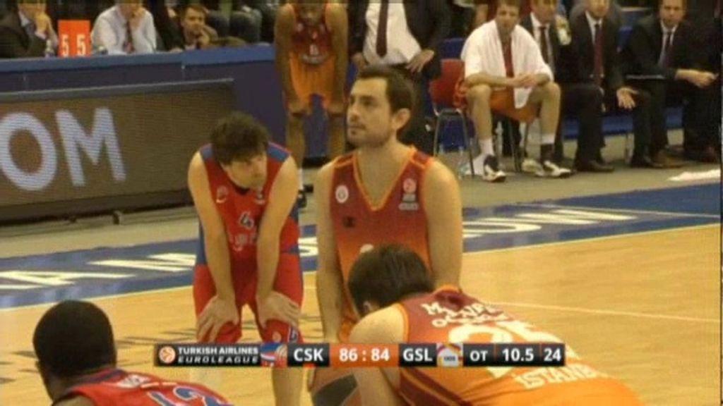 Victoria insuficiente para CSKA frente al Galatasaray (86-85)