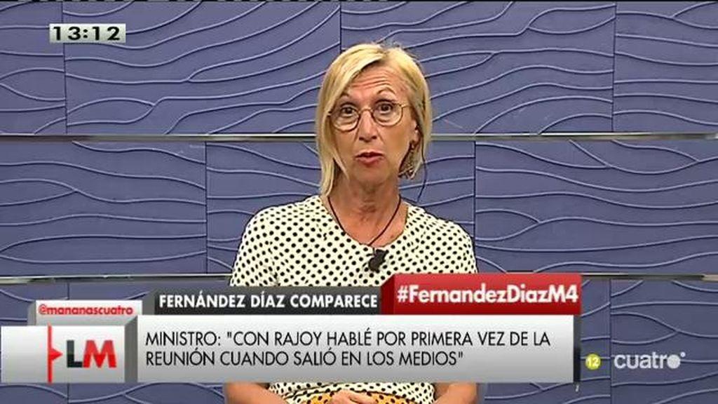 """Rosa Díez: """"Si Rajoy no cesa a Fernández Díaz, el que debería dimitir sería Rajoy"""""""