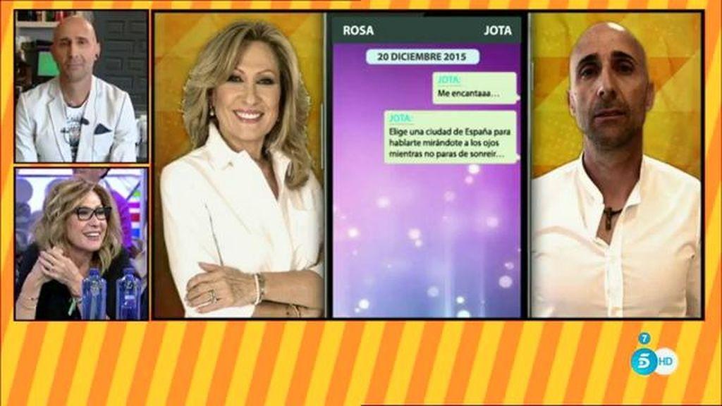 Los mensajes del roneo de 'Jota' y Rosa