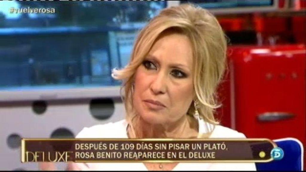 "Rosa Benito: ""Le dije a Amador que si se sentaba en un plató me quitaba la vida"""